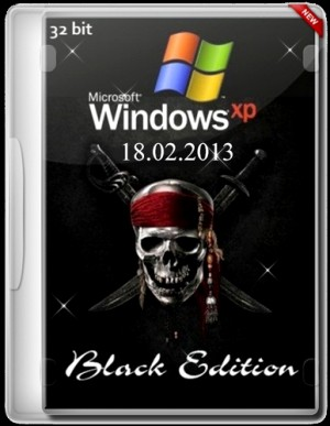 Windows xp professional sp3 black edition (18.02.2013) (x86) [2013] русский + английский